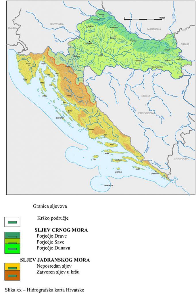 Karta Hrvatske Rijeka Karta