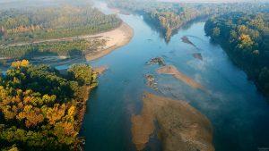 Mura, rijeka, Međimurje, nizina, poplavna nizina, ušće