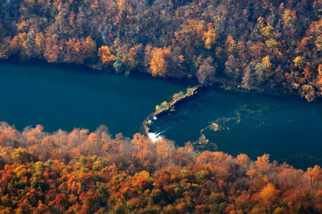 mrežnica, slap, jesen, rijeka, hrvatska, kanjon